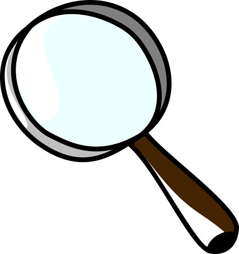 clipart magnifying glass detective - photo #14